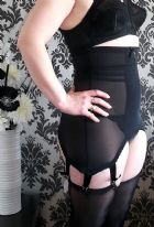 Black Longline Girdle with 6 Suspender Straps